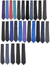 Ralph Lauren Black Label Mens Slim Skinny Solid Striped Silk Wool Knit Neck Tie