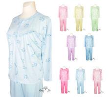 Damen Pyjama / Schlafanzug Langarm angehem zu tragen Baumwolle New Look