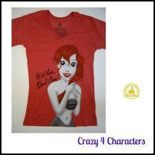 Disney Store Ariel The Little Mermaid Adult Ladies Tshirt T-Shirt Tee Xmas