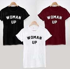WOMAN UP T-SHIRT - FEMINIST COOL FUNNY LADIES UNISEX WOMEN MUM SISTER