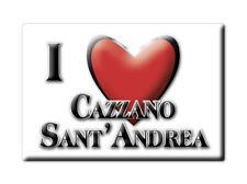 CALAMITA LOMBARDIA FRIDGE MAGNETE SOUVENIR I LOVE CAZZANO SANT'ANDREA (BG)