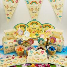 9 Style Unicorn Children Birthday Party ware Supply Flag CupCake Decoration