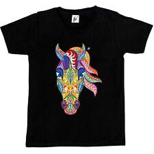 Stile Indiano Decorato cavallo con Mane Bambini Ragazzi / Ragazze T-Shirt