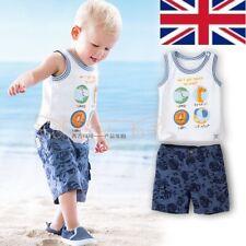 UK Seller Hot Sale New Smart Animal Zoo Top T shirt Vest Shorts Set Age 6-12 M