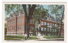 Morse High School Bath Maine 1920c postcard