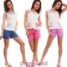 Pijama de mujer completo ropa interior lencería shorts camiseta de tirantes