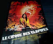 1972 Vampire Circus ORIGINAL FRENCH POSTER Hammer FREAKY CREAPY BLOODY NUDITY