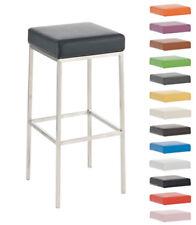 Tabouret de bar MONTREAL E80-85 similicuir chaise cuisine métal repose-pied neuf