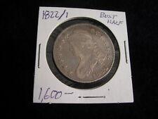 1822 2 over 1 Bust Half Dollar Silver Vintage Coin AU+