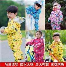Toddler Kids Siamese Raincoat Poncho Boys Girls Waterproof Hooded Raincoat S2-7Y