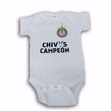 Chivas del Guadalajara Campeon White/Navy Jumpsuite Mameluco 100% Cotton
