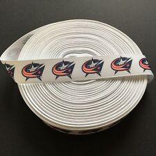 "7/8"" Columbus Blue Jackets Grosgrain Ribbon by the Yard (USA SELLER!)"