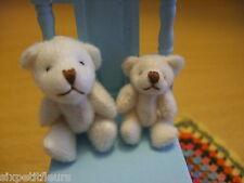 TINY 2.5 or 3.5cm jointed cream plush teddy bear 1:12th or 24th scale dollshouse