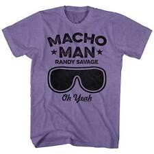 Macho Man Randy Savage Oh Yeah Glasses Adult T Shirt WWE Wrestling