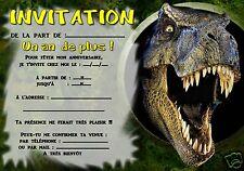 5 o 12 invitaciones de cumpleaños DINOSAURIOS ref 300