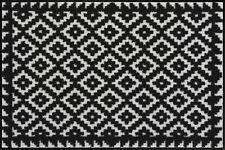 Salonloewe Fußmatte Tabuk Black & White waschbar 3 Größen robust Fußabstreifer