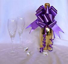 CADBURY PURPLE Large Pull Bows Wedding Decoration, Church Pews, Top Table, Chair
