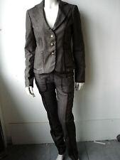 Liu.Jo Damen Köstume Anzug Hose Blazer Braun 38 40 M L