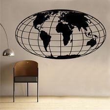 World Map Globe Wall Art Sticker IN15