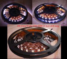300 Leds 15ft / roll WHITE 5050 SMD LED Strip