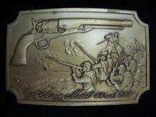 PG31169 VINTAGE 1970s **COLT ARMY MODEL 44 CAL. 1860** GUN & FIREARM BELT BUCKLE