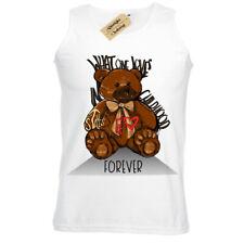 sangue Design Grafico Tee Wellcoda Orsacchiotto AMORE ferito da Donna V-Neck T-shirt