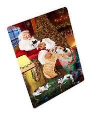 Santa Sleeping with Japanese Bobtail Cats Christmas Cutting Board C62892