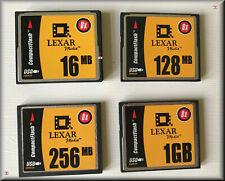 LEXAR Compact Flash CF 16MB 128MB 256MB 1024MB 1GB mit Schutzhülle