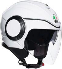 Casco Jet Moto Scooter AGV Orbyt Blanco Perla Pearl White Doble Visera de Sol