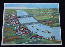 N002  Affiche Scolaire vintage Vallée Plaine Confluent Rossignol 56*76 cm ecole