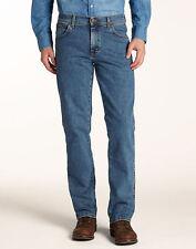 Wrangler Men's Texas Stretch Straight Trousers, Stonewash