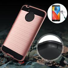 For Motorola Moto G5/E4 Plus/E4 Phone Case Cover+Tempered Glass Screen Protector