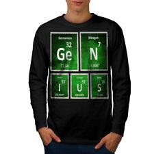 Genious Smart Nerd Geek Men Long Sleeve T-shirt NEW | Wellcoda