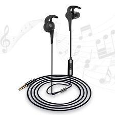 Wired Sweatproof Earhook In Ear Sport Workout Headphones Noise Isolating Earbuds