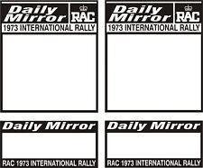 1973 Daily Mirror Rac Rally Placa Decal Set Pegatinas