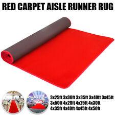 Red Carpet Aisle Runner Hollywood 20-50ft Length Runway Rug Decoration Wedding