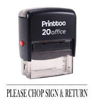 bureau s'il vous plaît côtelez signe et retour caoutchouc timbre personnalisé