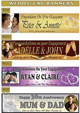 Personalizzato Matrimonio & Fidanzamento Celebrazione striscioni con la tua foto e nome