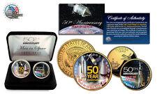 MAN IN SPACE *50th Anniversary* NASA 24K Gold U.S.A Legal Tender 2-Coin Set-NEW