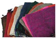 Fair Trade Tibetan Yak Wool Woollen Light Shawl / Blanket 1.8M x 0.8M (N64)