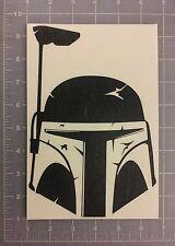 Boba Fett's Mandalorian Helmet Decal Star Wars Armor Sticker (car laptop wall)