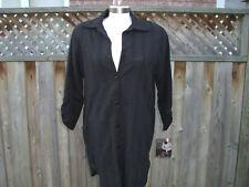 Donna Resort Men's Style Shirt Black Cover-Up