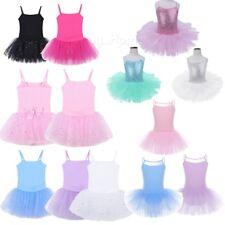Ballet Dress Kids Baby Girls Tutu Skirt Leotard Gym Ballerina Dancewear Princess