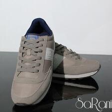Zapatos De Hombre Atlanta Zapatillas Casual Deportivos Beige Suela Ante Cordones