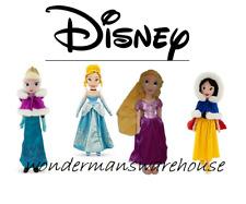 Official Disney Winter Soft Plush Dolls -Elsa/Rapunzel/Snow White/Cinderella-NEW