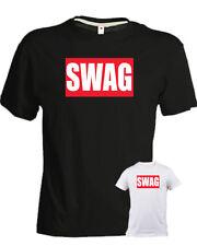 Tshirt SWAG nera bianca 100 % cotone unisex rap trap hip hop music style