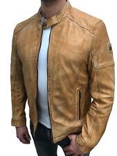 Milestone Bogo Herren Lederjacke hochwertige Jacke im Biker Look Nappa Leder