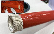 TUBO ISOLANTE GUAINA FIBRA VETRO SILICONE ALTE TEMPERATURE 4000V 260°C Ø 20 mm