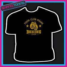 Personalizado Boxing Club Boxer Gimnasio Camiseta