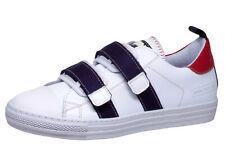 Sneaker von Momino 4010 Teen Sport Halbschuhe Leder Weiß Gr. 34  - 41 Neu